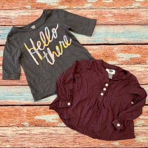 Old Navy Purple and Gray Tops